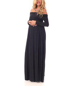Charcoal Gray Maternity Cowl Neck Maxi Dress - Women by PinkBlush Maternity #zulily #zulilyfinds
