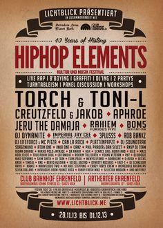 Lichtblick präsentiert Hiphop Elements – Musik und Kultur Festival 29.11.13 bis 01.12.13 | Köln Ehrenfeld (vvk Infos ganz unten) Event auf Facebook: https://www.facebook.com/events/387730387996475/ __________________________________________________________ DAS KOMPLETTE LINE UP BEFINDET SICH UNTER DEM TAGESPROGRAMM