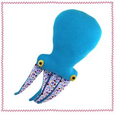 Upcycled sweater squid