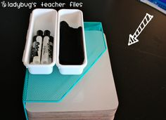 Ladybug's Teacher Files: Contact paper on desks and tables