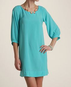 Splendid 3/4 Sleeve 'A-Line' Dress