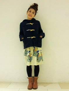 POU DOU DOU 札幌パルコ店|POUDOUDOUさんのブーツ「見返しボアショートブーツ(POU DOU DOU|プードゥドゥ)」を使ったコーディネート
