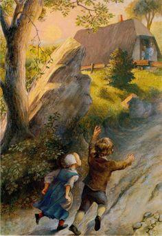 """Paul O. Zelinsky's Illustrations for """"Hansel and Gretel""""1984"""