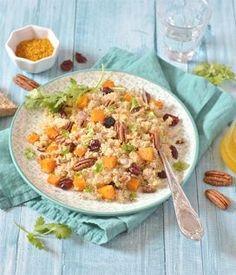Salade de quinoa à la butternut rôtie à l'orange et aux fruits secs - Recettes de cuisine bio à réaliser à base de produits bio