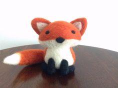 Needle Felted Fox, Needle Felted Animal, Wool Felt Animal, Fox Plush, Fox Art, Fox Decor, Woodland Animal Decor, Fox Ornament, Fox Soft Sculpture, Gift for fox lovers