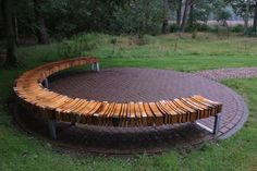 Outdoor seating made from recycled lumber