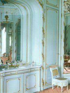 private apartment at chateau de chales, established as a paris museum in 1875 by nelie jacquemart in the louis XVI empress style / world of interiors sept 2011