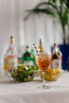 Sophisticated spring cocktail