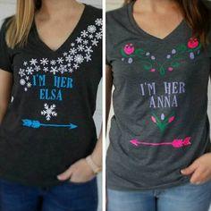 ana and elsa sister shirts
