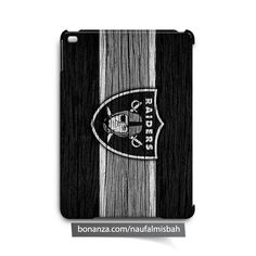 Oakland Raiders on Wood iPad Air Mini 2 3 4 Case Cover