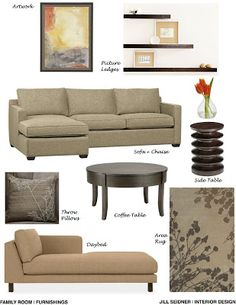 jill seidner | interior design: concept boards | family room ideas
