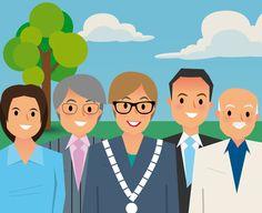De collegeleden hebben ieder een eigen Facebookpagina. Dus je kunt ook de Facebookberichten volgen van burgemeester Heleen van Rijnbach-De Groot en van de wethouders Jan van Hal, Jean-Pierre Schouw en Ron Dujardin. Op hun eigen Facebookpagina's plaatsen zij onder andere informatie en foto's van bijeenkomsten, ontvangsten, bezoeken en andere activiteiten.