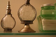 Moroccan perfume bottles from Marrakech.