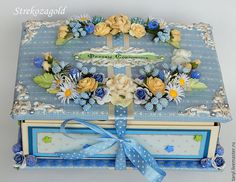 """Купить Мамины сокровища """" Федины сокровища"""" - голубой, голубой цвет, мамины сокровища"""