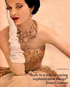 Richard Avedon for Harpers Bazaar c. 1950. #RichardAvedon #HarpersBazaar #Fashion1950 #Inspiration #ShaunaGiesbrecht #VonGiesbrechtJewels