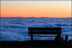 A #fence to sit and look at the #sunset above the #clouds. From #Panoramica #Zegna road, Oasi #Zegna, #Italy. Photo by Giuseppe Verge. www.oasizegna.com
