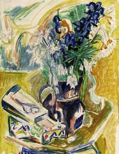 Still Life with Vase of Flowers by Ernst Ludwig Kirchner (1880-1938, Germany)
