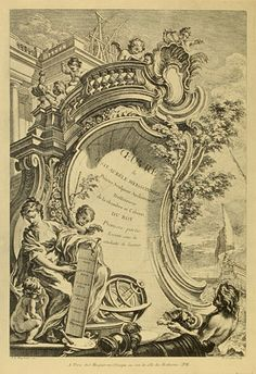 Rococo engraving from a French collection of 200 engravings from the reign of Louis XV (1710–1774), compiled by Peter Jessen