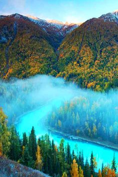River of Dream, Kanas Nature Reserve in northern Xinjiang Province, China, by Jacky CW, on 500px.