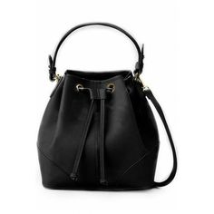 LUCLUC Black Expandable Bags (99 RON) ❤ liked on Polyvore featuring bags, handbags, expandable bag and expandable purse