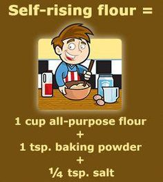 Scores of novice cooks are plagued by questions related to the difference between all-purpose flour and self-rising flour. This article dwells on self-rising flour vs all-purpose flour. Baking Tips, Baking Recipes, Baking Substitutions, Baking Secrets, Recipe Substitutes, Freezer Recipes, Beer Recipes, Freezer Cooking, Cooking School