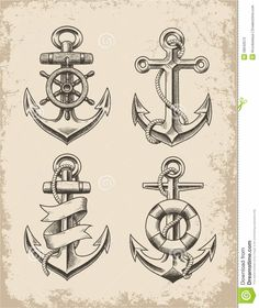 Hand Drawn Anchor Set
