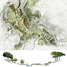 Gardening And Landscape Design Business Diploma Course Landscape Architecture Drawing, Landscape And Urbanism, Landscape Concept, Landscape Plans, Landscape Drawings, Landscape Design, Urban Design Concept, Urban Design Diagram, Urban Design Plan
