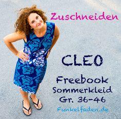 Das Schnittmuster für das Sommerkleid Cleo solltet ihr nun bereits ausgedruckt und ausgeschnitten vor euch haben.
