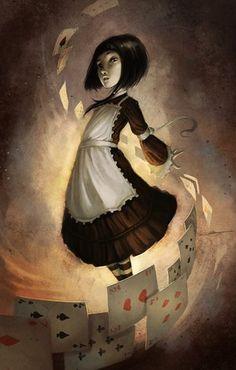 """Adaptation de """"Alice au pays des merveilles"""" aux éditions Drugstore par le dessinateur de BD,  Xavier Colette. Son site : http://coliandre.acerb.be/"""