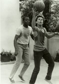 """River Phoenix and Sidney Poitier on the set of Little Nikita """"You're working against raw talent and that's very invigorating for me – he sparkles."""" Sidney Poitier said about River Phoenix. Celebrity Gallery, Celebrity Photos, Classic Hollywood, Old Hollywood, We Happy Few, River Phoenix, Best Actor, Famous Faces, American Actors"""