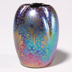 Weller Sicard vase | with stylized flowers and excellent color painted by Jacques Sicard