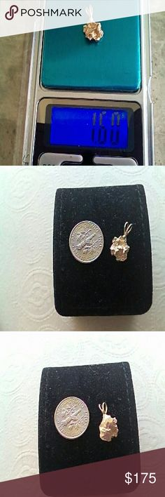14k GOLD NUGGET CHARM Another handmade charm from my husband. This charm is a nice addition to any bracelet. Great condition. Another one of a kind. Jewelry