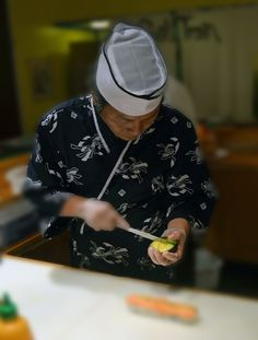 chef at work on a roll