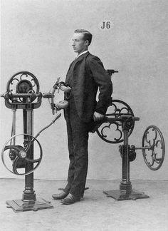 Die eigentümlichen Maschinen des schwedischen Arztes Gustav Zander erinnern heute eher an Folter- als an Trainingsgeräte.