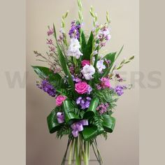 Funeral Standing Spray in Lavender Color - W Flowers Ottawa