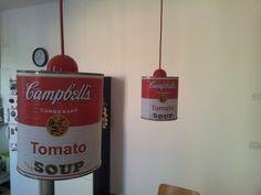 Tomato tin lamp