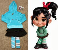 DIY Disney Costumes For Girls: Vanellope costume