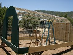 This is the hog hooch that we built, out of cattle panels and other good stuff, on one of the windiest New Mexico weekends in the history of...