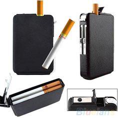 Automatic Lighter Pocket Ejection Butane Cigarette Case #Affiliate