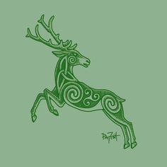 Image result for modern celtic stag tattoo