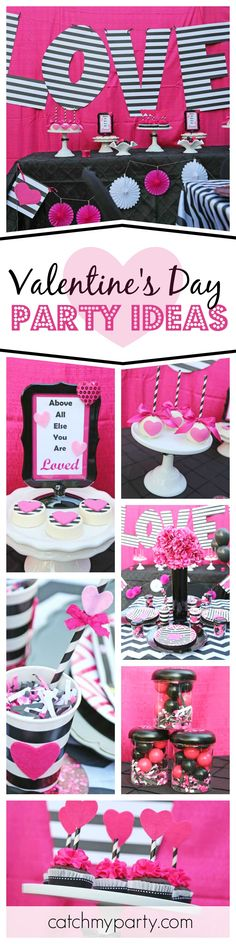 You'll fall in love with this cute Valentine's day party. The heart decorated candy apples are really pretty! See more party ideas and share yours at CatchMyParty.com