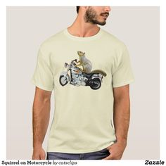 bf495405 Squirrel on Motorcycle T-Shirt available in other colours, styles and the  design on