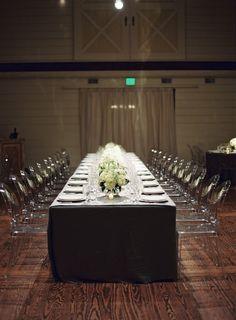 Slate Blue Virginia Wedding from A Dominick Events at The Haven - wedding centerpieces