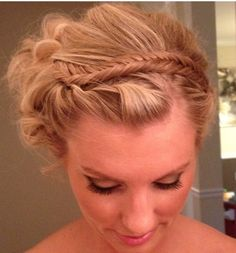Bridesmaid updo!