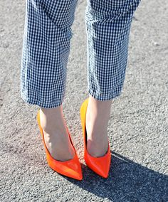 checkers and orange neon, combine them and achieve amazing