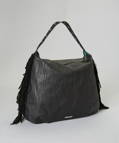 Loving this Black Slouchy Fringe Hobo Bag on #zulily! #zulilyfinds $22.99, yes please!