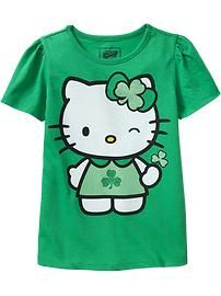 Everyone's Irish on St. Paddy's Day, even Hello Kitty!  #CPirishluck We need this, @Eric C !!!
