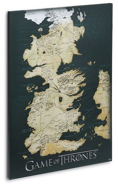 ThinkGeek presents: Game of Thrones Canvas Map Poster...no lie, it's printed on real canvas. See the Seven Kingdoms all at once!
