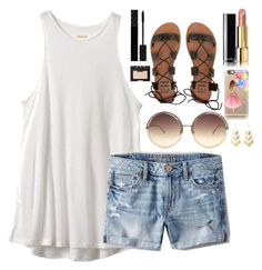 """""""Going to Lagoon on Friday!!"""" by classyandsassyabby ❤ liked on Polyvore featuring RVCA, American Eagle Outfitters, Linda Farrow, Billabong, Gucci, Chanel, NARS Cosmetics, Casetify, Charlotte Russe and soexcited"""