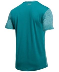 Under Armour Men's Streaker Threadborne V-Neck T-Shirt - Blue XXXL